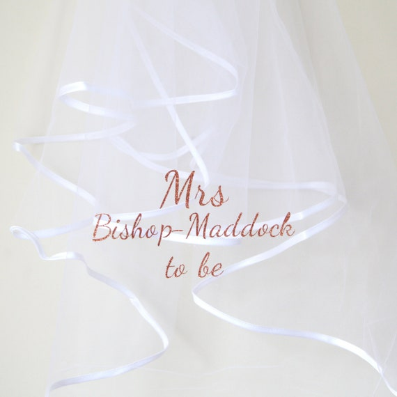 Hen Party Bachelorette Personalised Wedding Veil Font 1