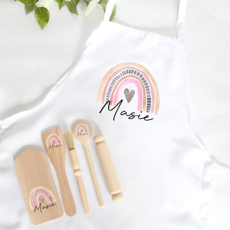 Personalised Kids Baking Set Children's Kit Apron Bag