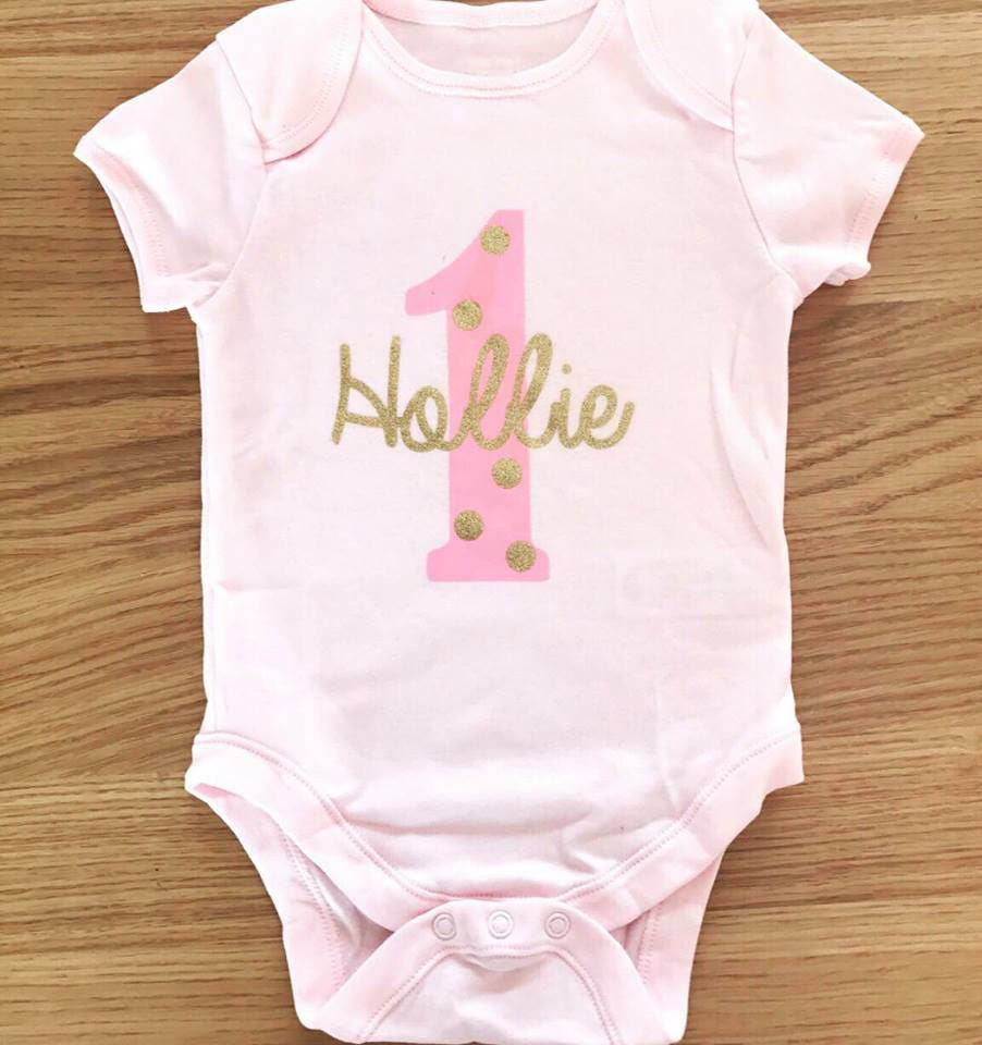Personalised 1st Birthday Outfit Baby Vest Tutu