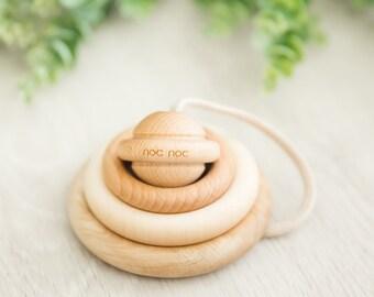 Organic Wooden Ring Stacker