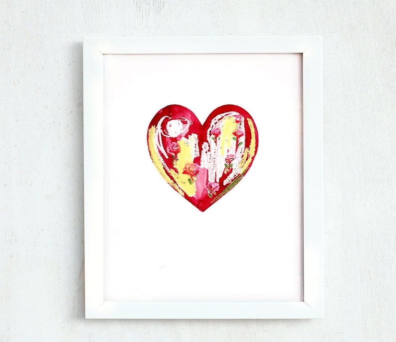 photograph relating to Valentine Heart Printable called Valentines working day printable, Printable hearts, summary center, floral summary, printable summary, watercolour portray, oil pastels middle