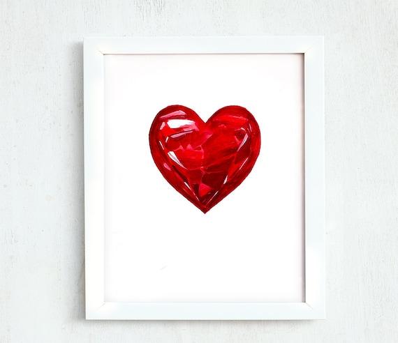 Día De San Valentín Corazón Para Imprimir Imprimir Corazón Etsy