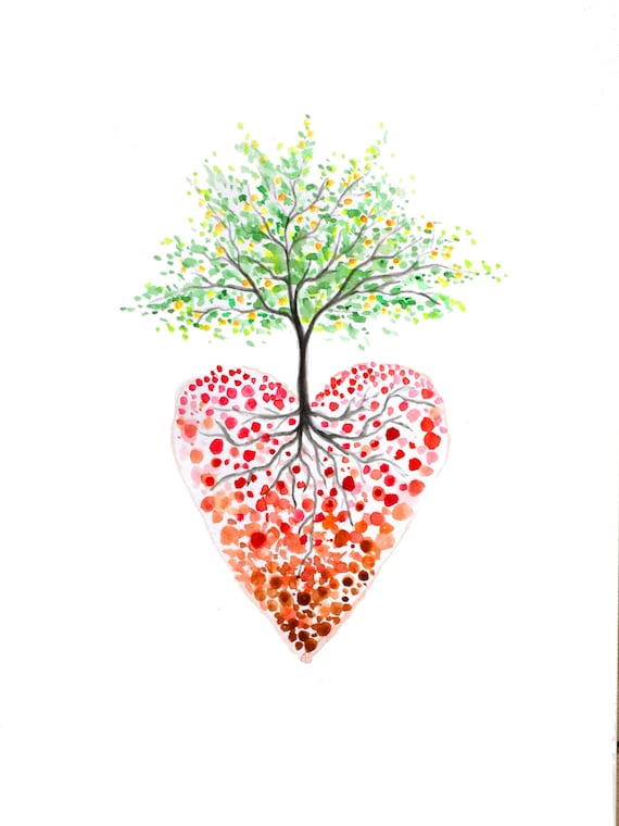 graphic about Tree of Life Printable named Valentines working day, Tree of everyday living, printable hearts, tree print, center tree, Printable tree, delight in tree, fragility artwork, developing print