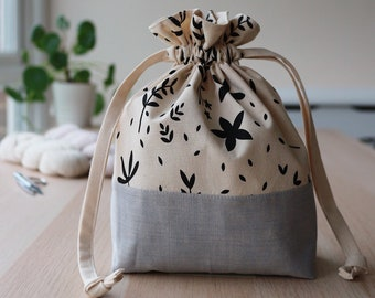 Drawstring Knitting Project Bag - Waterperry Collection