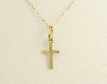 Vintage Hand Carved Cross- 18k Yellow Gold