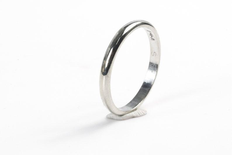 14k White Gold Wedding Band 2.2 mm