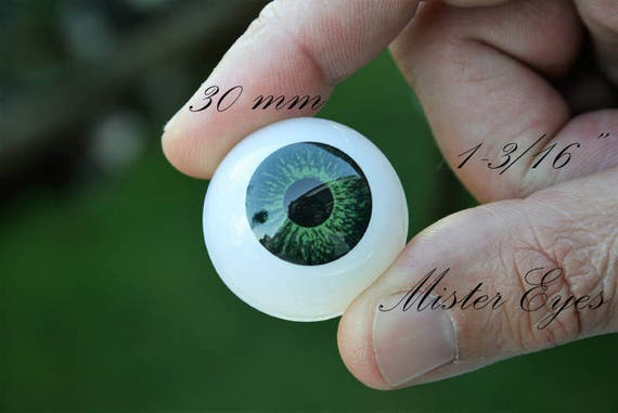 Gorgeous colour 8mm Blue Glass BJD Eyes for OOAK BJD Dollfie