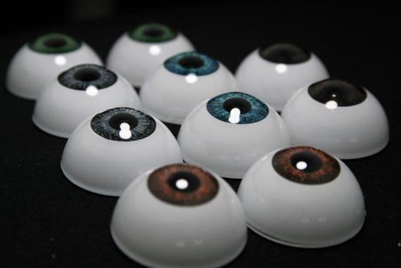 "Doll acrylic eyes for bjd 12 mm 15//32/"" 1 pair blue reborn crafts"