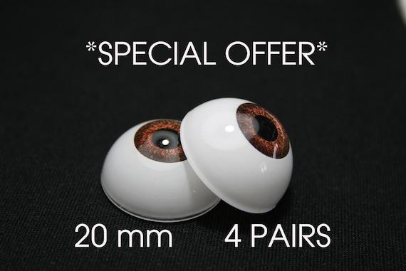Bjd doll acrylic eyes 14 mm 4 pairs GRAY reborn dollfie msd yosd minifee