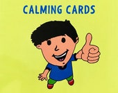 Calming Cards Set. WIPEABLE and NON-TEARABLE paper. A6 size. Help your child