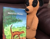 Marty Goes Missing Story Book with a Cuddly Toy. WIPEABLE and NON-TEARABLE paper. A5. Help your child learn about emotions with this book