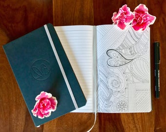 1 Moleskin Colouring Journal, Notebook, Adult Colouring Book, A5