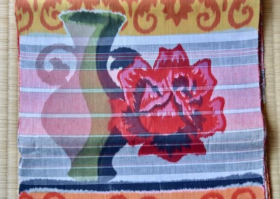 Japanese Retro 100/% Cotton Fabric Koi Print Traditional Kimono Material By Metre
