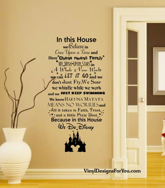 In this House We do Disney Wall Decal with Mickey Mouse