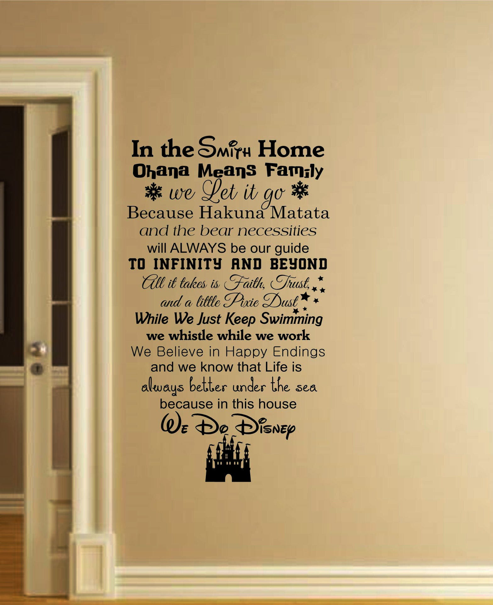Disney Wall Decal Disney Home Decor-We Do Disney Wall