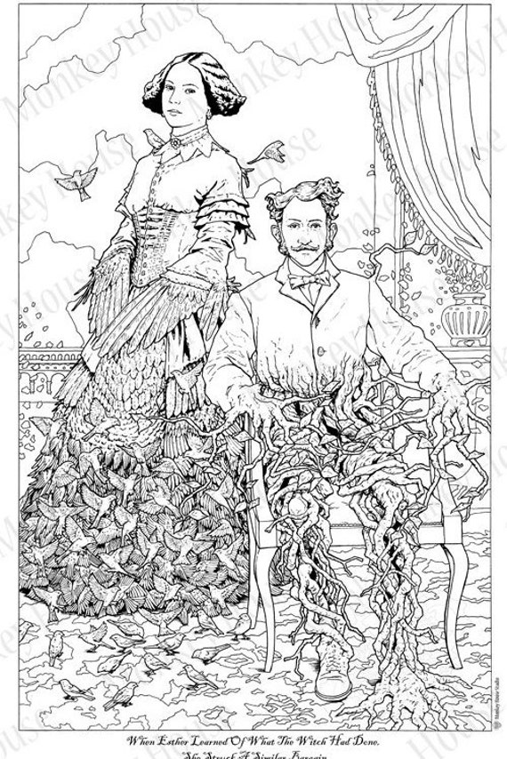 Steampunk Coloring Page Stop Gawking | Etsy | 854x570