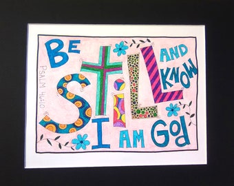 Be Still - 8x10 - with 11x14 BLACK matte colored