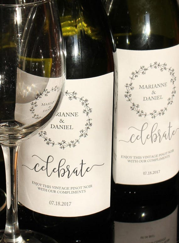 rustic printable wine label celebration bottle template