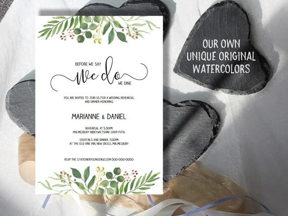 Pre Wedding Dinner Invitation: Printable Wedding Rehearsal Dinner Invitations DIY