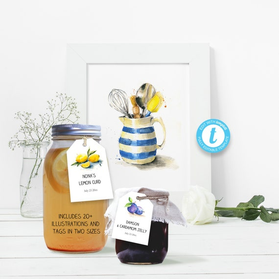 photograph relating to Printable Mason Jar Template identify Printable mason jar neck tag template, 20+ watercolor examples, foods present recommendations, foods jar holding labels, customized pantry tag, 2 measurements