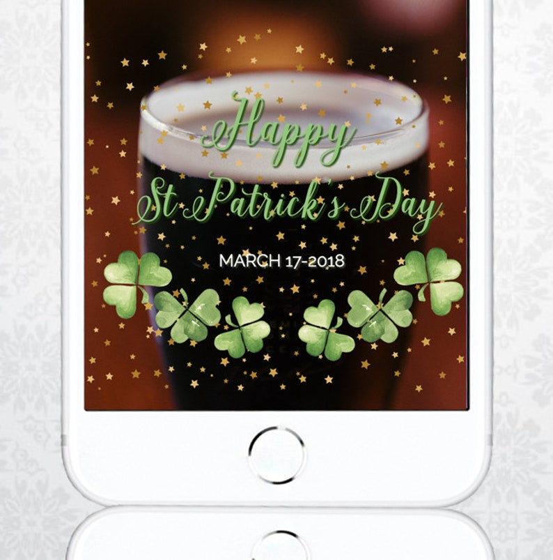 Irish St Patrick's Day Snapchat filter, easy to customize St Patty's Day  geofilter | DIY edit directly in your browser
