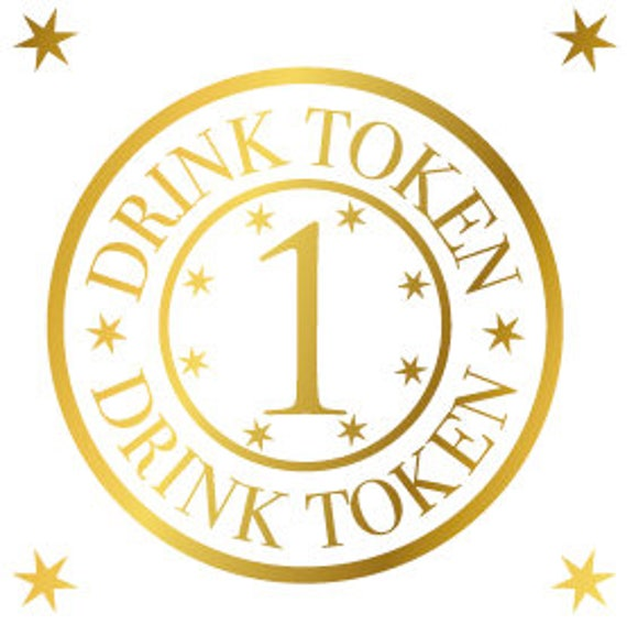 picture regarding Printable Tokens referred to as Printable gold consume tokens, marriage ceremony bar beverages token template, totally free beverages celebration favors Designs