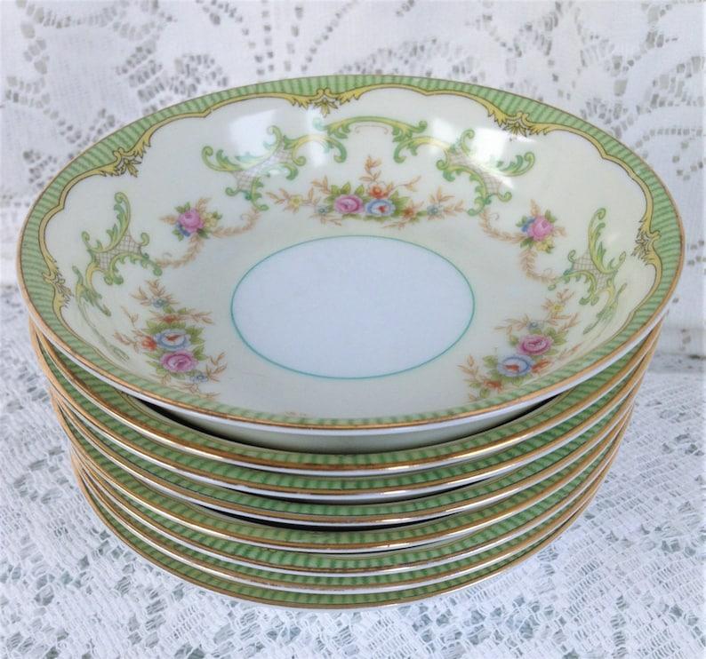Noritake Marlene Vintage Fruit Bowls with Gold Trim Holiday