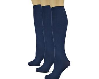 527e50f8d33 Sox Trot Navy Blue 3 Pack Knee High Socks (Women s)