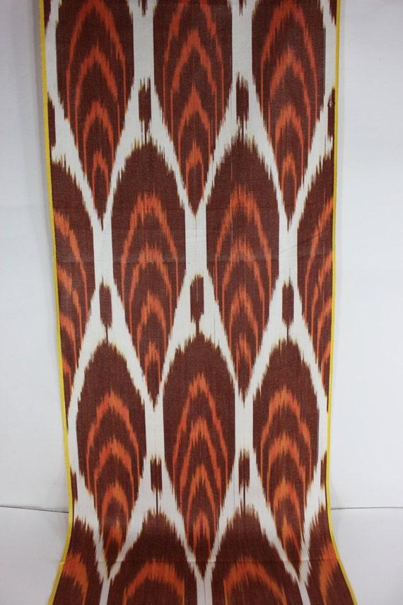 Hand Woven Fabric Ikat Fabric Ikat Fabric by the yard Uzbek Fabric XB 314