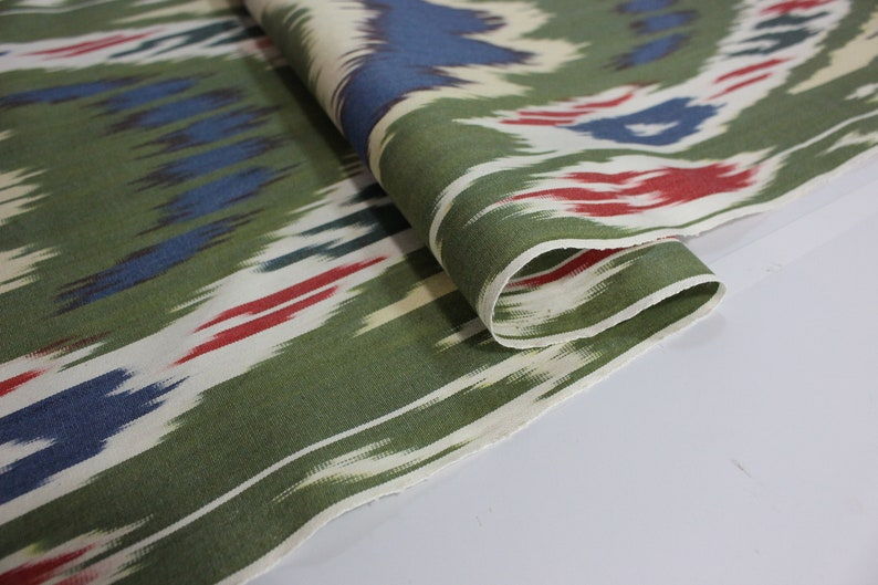 Cotton Ikat Fabric National Cloth Ikat Upholstery Fabric XB755 Hand Woven Fabric Cotton Fabric Ikat Fabric By The Yard Ikat