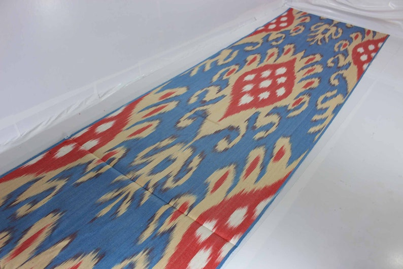 XB887 Ikat Fabric By The Yard Ikat Upholstery Fabric Cotton Ikat Fabric Hand Woven Fabric Ikat Cotton Fabric National Cloth