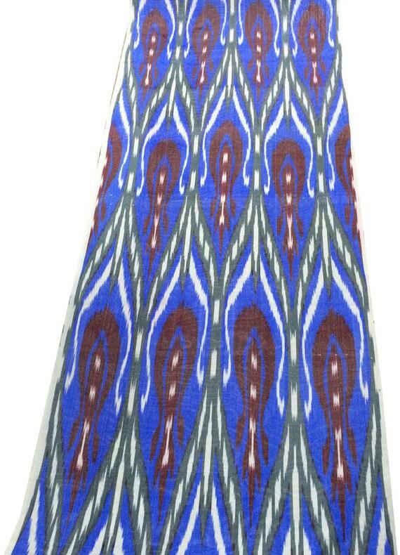Uzbek Fabric Ikat Fabric Hand Woven Fabric Ikat Fabric by the yard FB 430