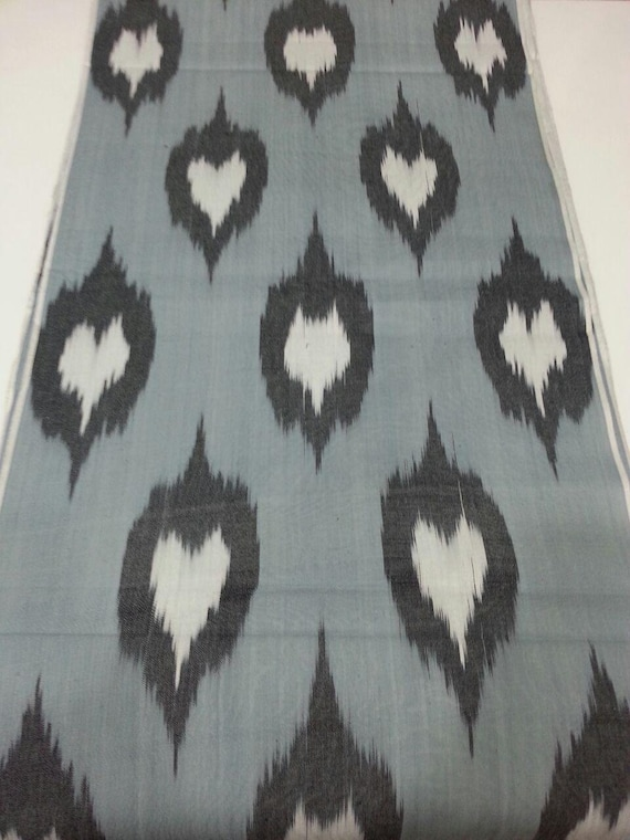 Ikat Fabric By The Yard Cotton Ikat Fabric Ikat Upholstery Fabric