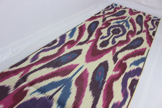 Ikat Upholstery Fabric Cotton Ikat Fabric Cotton Fabric XB817 National Cloth Ikat Fabric By The Yard Hand Woven Fabric Ikat