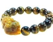 Beautiful Tiger Eye Bracelet with Pi Yao - Bring Protection and Good Luck - 91189