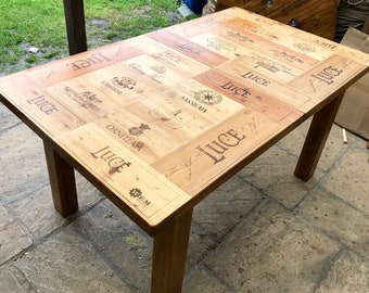 Handmade Solid Oak Wine Box Extending dining table unique piece
