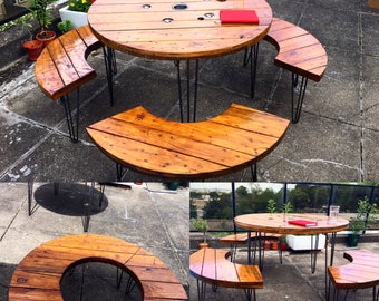 Bespoke Rustic Garden Dining Set Table Benches