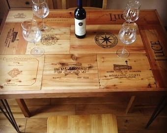 Handmade Rustic Wine Box Dining Table