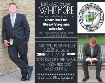 Elder Missionary Farewell Invitation