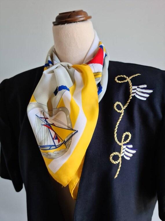 Vintage 80s Short Sleeve Blazer, Dolina, Navy Blue