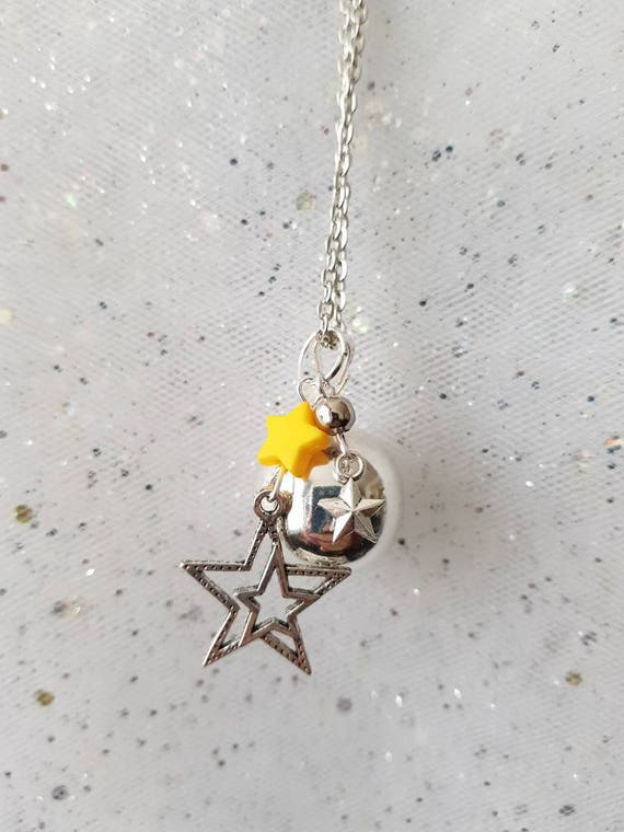 pregnancy bola necklace swan and yellow star