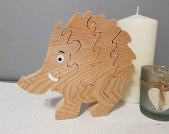 Boar wooden puzzle
