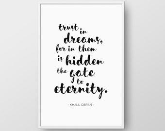 Khalil Gibran Quote Etsy