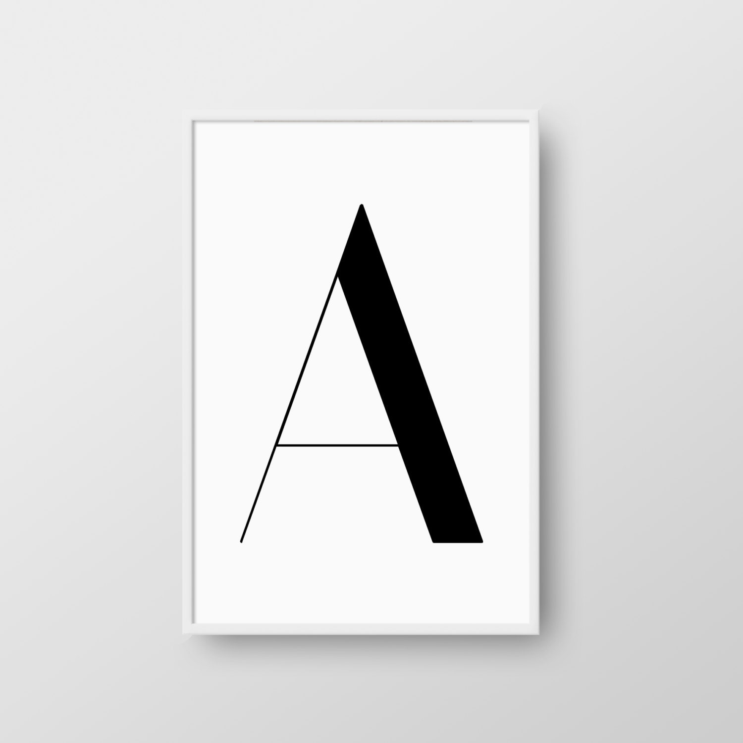 photo regarding Printable Poster Letters titled Letter A Printable Poster, Scandinavian Letter Print, Scandinavian Poster, Letter A Print, Letter A Wall Decor, Electronic Print, Nordic Print
