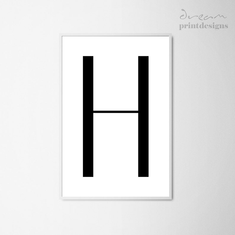 graphic regarding Letter H Printable named Letter H Printable Poster, Scandinavian Letter Print, Scandinavian Poster, Letter H Print, Letter H Wall Decor, Electronic Print, Nordic Print
