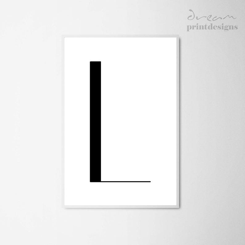 image about Printable L referred to as Printable Letter L, Letter L Print, Letter Poster, Minimalist Poster, Impressive Letter L Poster, Electronic Letter Print