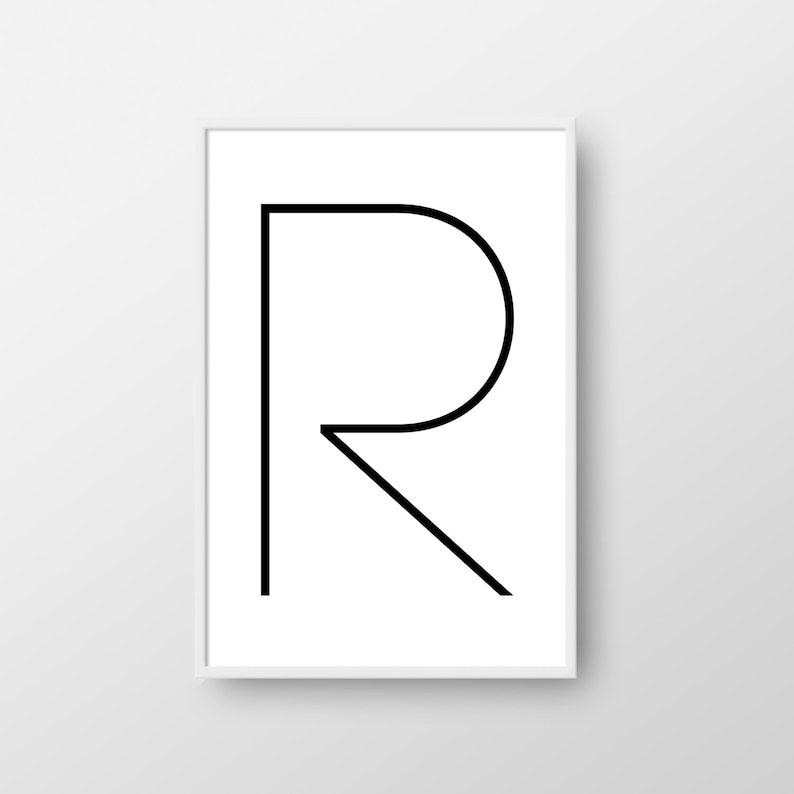 picture about Letter R Printable named Letter R Printable Poster, Letter R Print, Printable Letter, Nordic Print, Scandinavian Poster, Minimalist Poster, Letter R Poster