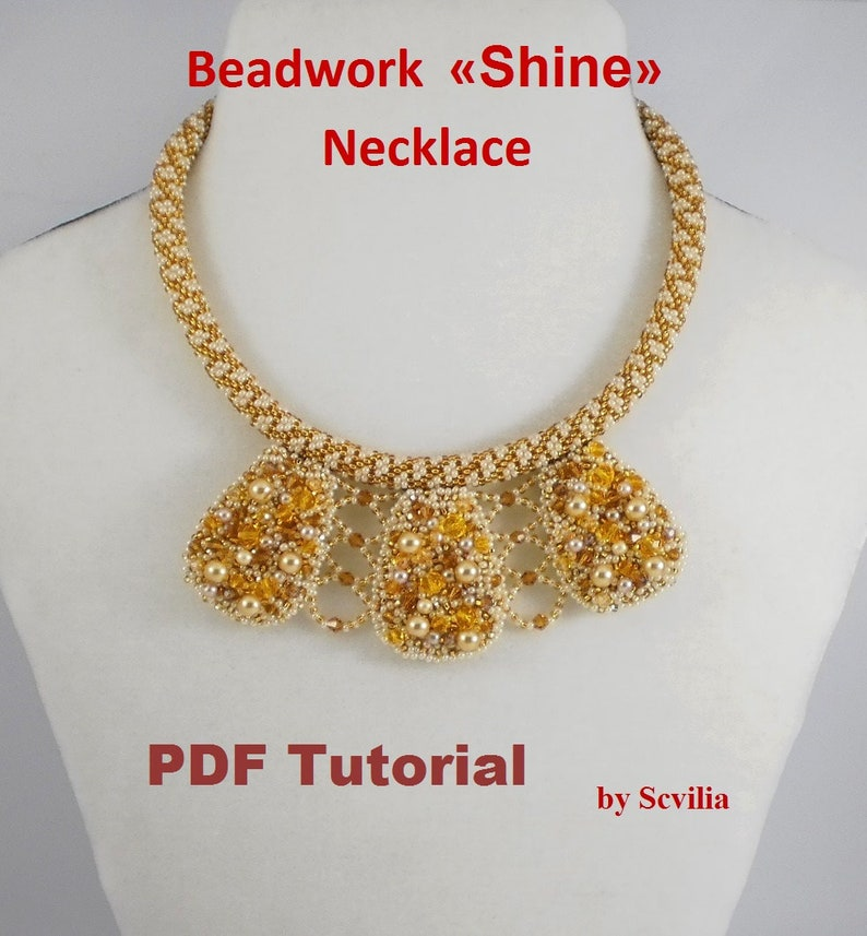 Bead Crochet Rope Pattern For Beading Shine Necklace And Etsy
