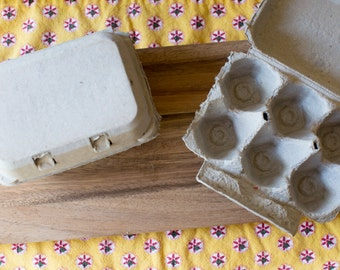 10 Half Dozen Egg Cartons - Blank Top - Carton Holds 6 Eggs