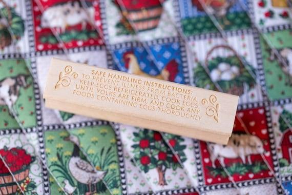 Egg Carton Stamp Fda Safe Handling Instructions Food Etsy
